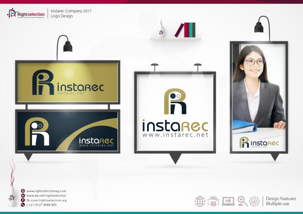 Instarec Company 2017 Logo Design